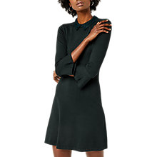 Buy Warehouse Lace Collar Dress, Dark Green Online at johnlewis.com