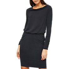 Buy Mint Velvet Cowl Neck Dress, Dark Blue Online at johnlewis.com