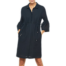 Buy Mint Velvet Eyelet Drawstring Shirt Dress, Dark Blue Online at johnlewis.com
