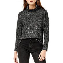 Buy Warehouse Cut and Sew Top, Dark Grey Online at johnlewis.com
