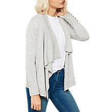 Buy Mint Velvet Lace Back Short Cardigan, Light Grey Online at johnlewis.com