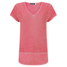 Buy Mint Velvet Overdye T-Shirt, Pink Online at johnlewis.com