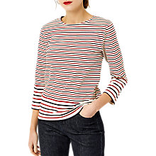 Buy Warehouse Engineered Stripe Top, Multi Online at johnlewis.com