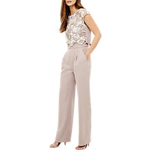 Buy Phase Eight Cortine Jumpsuit, Praline/Cream Online at johnlewis.com