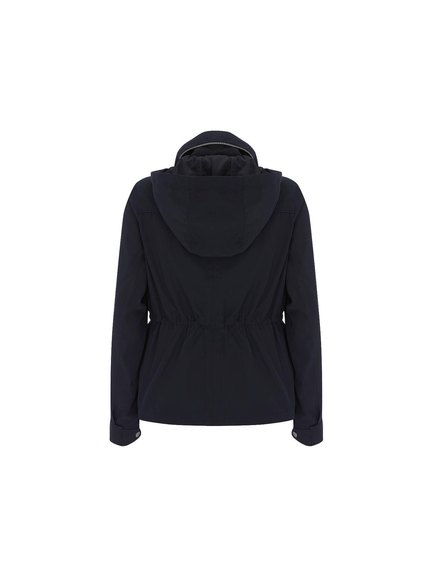 ac1832288 Mint Velvet Short Casual Zip Jacket, Dark Blue at John Lewis & Partners