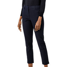 Buy Warehouse Compact Trousers, Navy Online at johnlewis.com