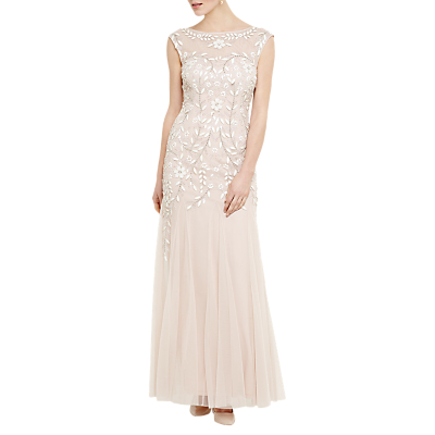 Phase Eight Collection 8 Sabine Beaded Maxi Dress, Rose Pink