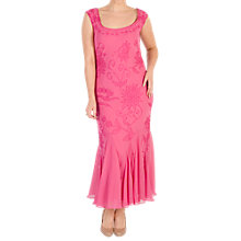 Buy Chesca Embroidered Beaded Dress, Rose Pink Online at johnlewis.com
