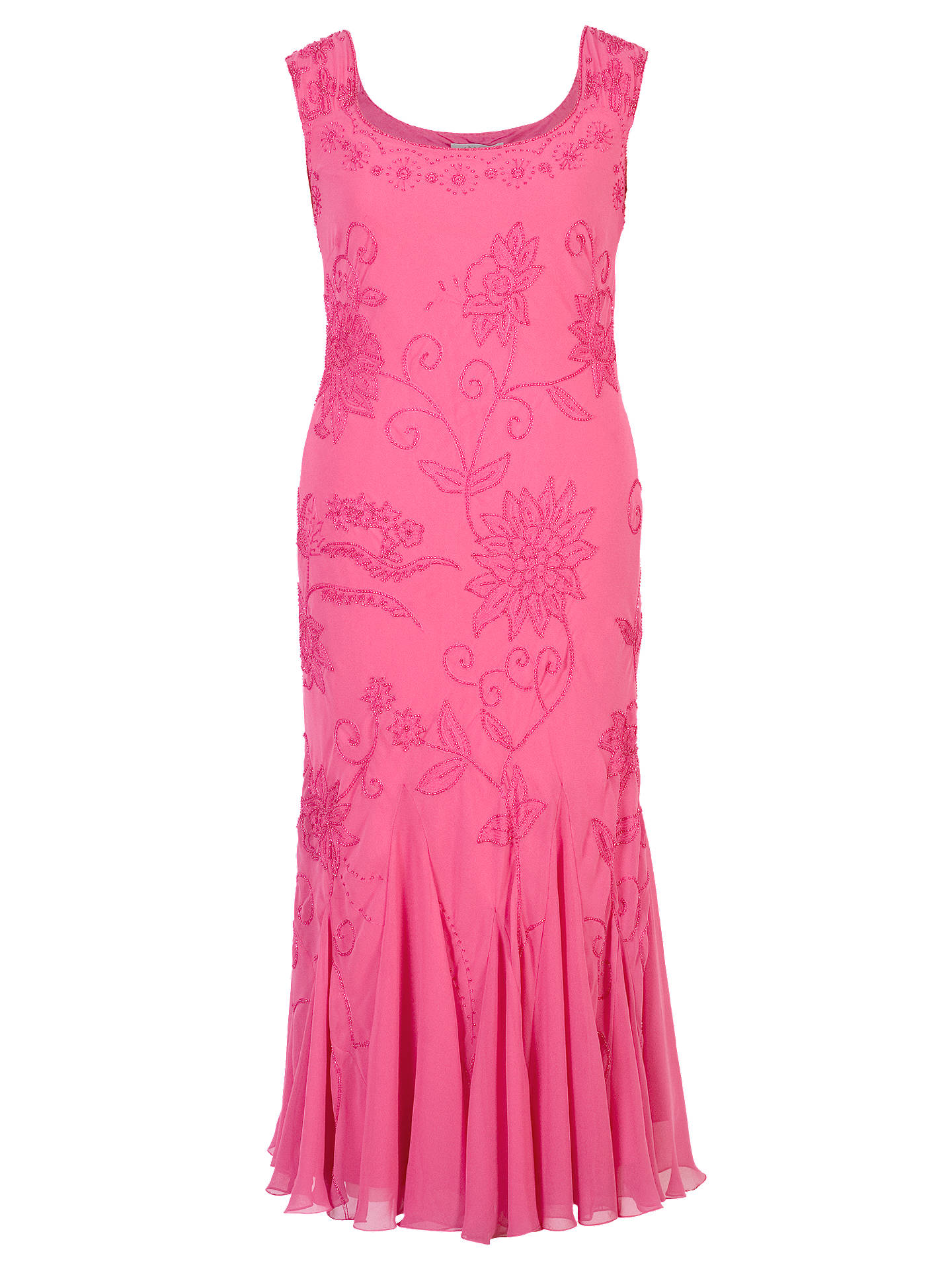 BuyChesca Embroidered Beaded Dress, Rose Pink, 12 Online at johnlewis.com