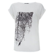 Buy Mint Velvet Rene Block Printed T-Shirt Online at johnlewis.com