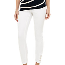 Buy Phase Eight Billie Button Hem Jeans, White Online at johnlewis.com