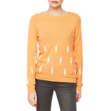 Buy Mint Velvet Lightening Bolt Jumper, Light Orange Online at johnlewis.com