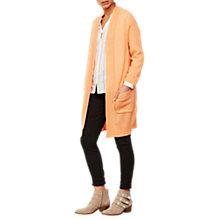 Buy Mint Velvet Boyfriend Cardigan, Light Orange Online at johnlewis.com