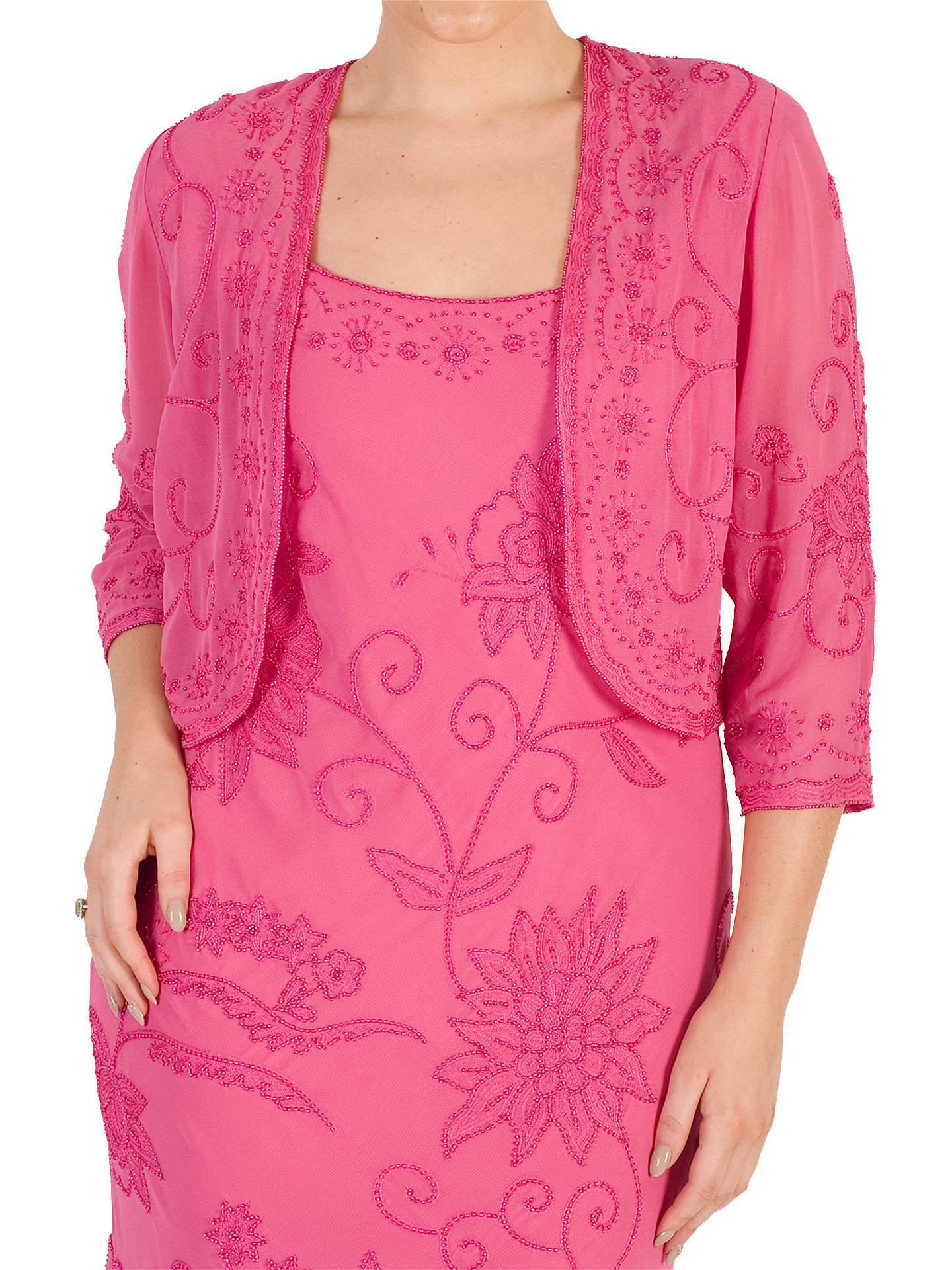 BuyChesca Embroidered Bolero, Rose Pink, 12 Online at johnlewis.com