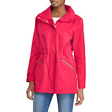 Buy Lauren Ralph Lauren Contrast Trim Hooded Anorak, Berry Online at johnlewis.com