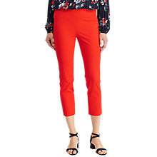 Buy Lauren Ralph Lauren Keslina Stretch Twill Skinny Crop Trousers, Tomato Red Online at johnlewis.com