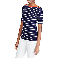 Buy Lauren Ralph Lauren Lila Knitted Top, Navy/White Online at johnlewis.com