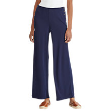 Buy Lauren Ralph Lauren Vattani Flared Trousers, Navy Online at johnlewis.com