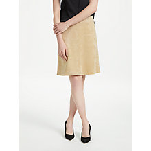 Buy Marc Cain Faux Suede A-Line Skirt, Sisal Online at johnlewis.com