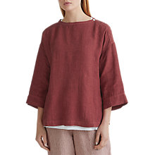 Buy Toast Linen Button Shoulder Top Online at johnlewis.com