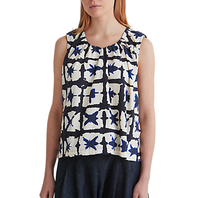 Toast Ink & Air Cotton Drawstring Top, Stormy Blue