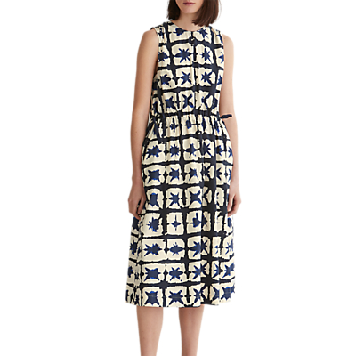 Toast Ink & Air Cotton Drawstring Dress, Stormy Blue