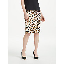 Buy Marc Cain Cheetah Print Jersey Pull On Pencil Skirt, Cappuccino Online at johnlewis.com