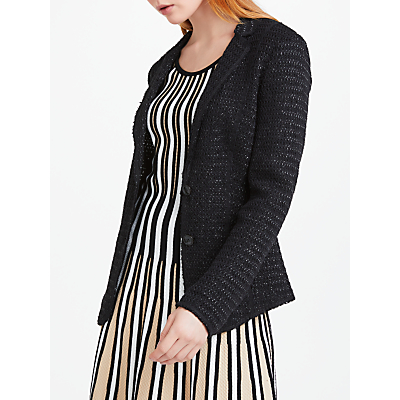 Marc Cain Fitted Raffia Jacket, Black