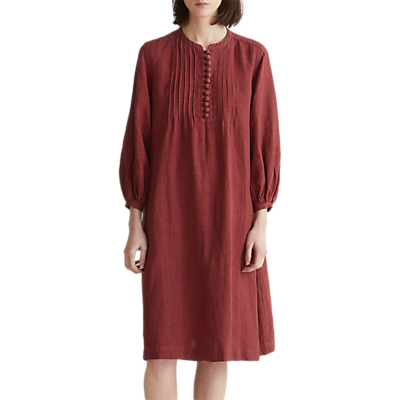 Toast Linen Smock Dress, Paprika