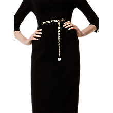 Buy Karen Millen Chain Detail Belt, Black Online at johnlewis.com