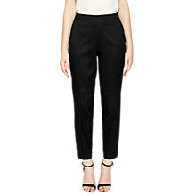 Buy Ted Baker Textured Trousers, Black Online at johnlewis.com