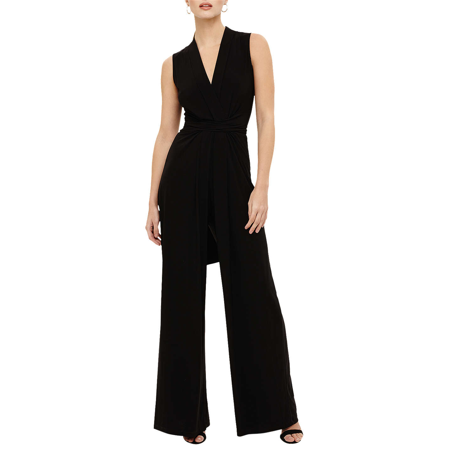 BuyPhase Eight Tia Sleeveless Jumpsuit, Black, 6 Online at johnlewis.com