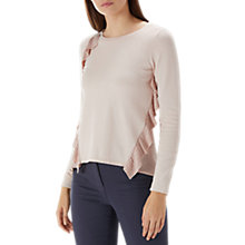 Buy Coast Liana Frill Jumper, Blush Online at johnlewis.com