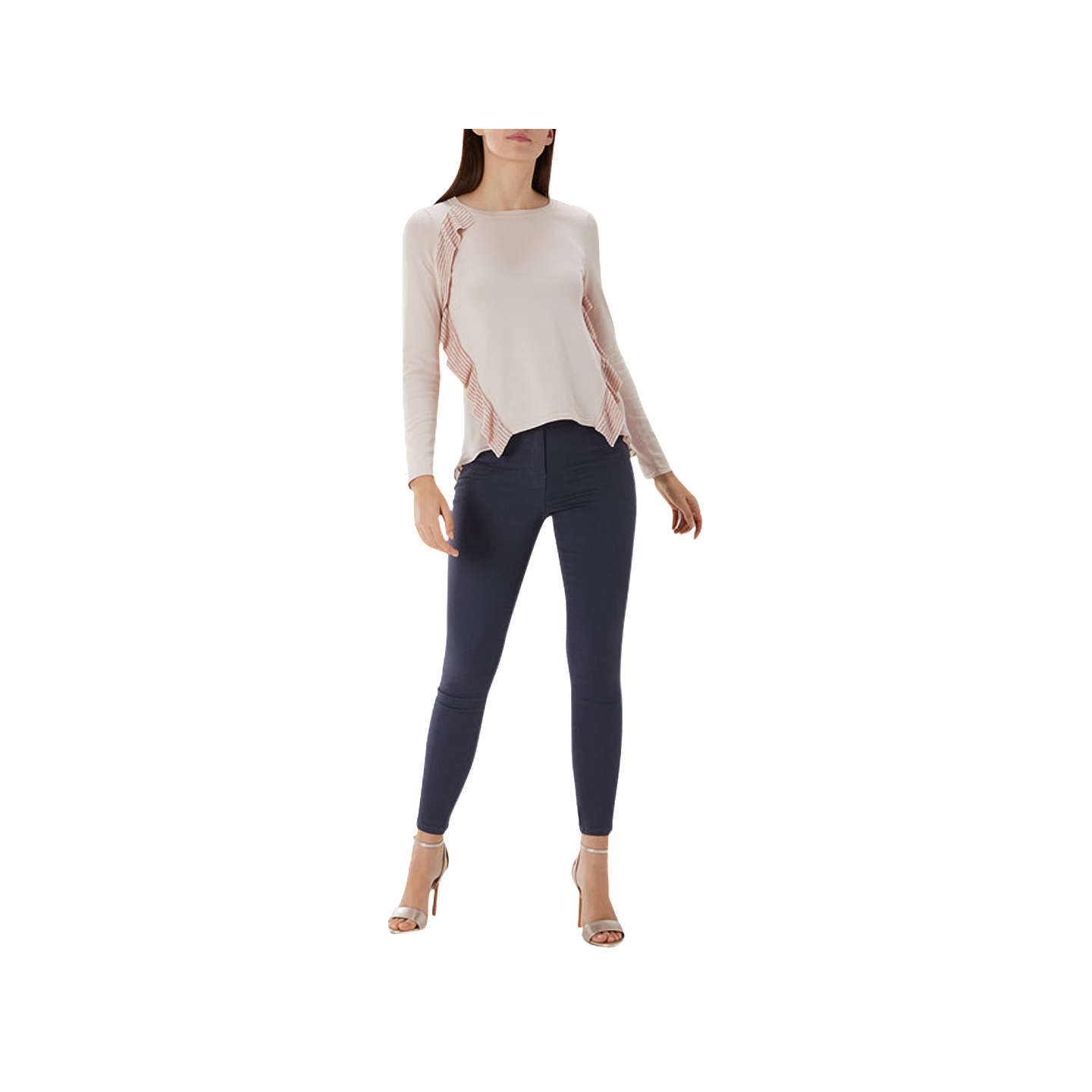 BuyCoast Liana Frill Jumper, Blush, XS Online at johnlewis.com