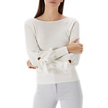 Buy Coast Kiona Eyelet Jumper, Ivory Online at johnlewis.com