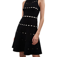 Buy French Connection Crepe Flared Dress, Black Online at johnlewis.com