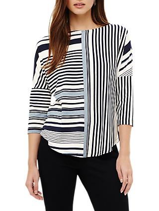 Phase Eight Elanna Stripe Top, Multi/Blue