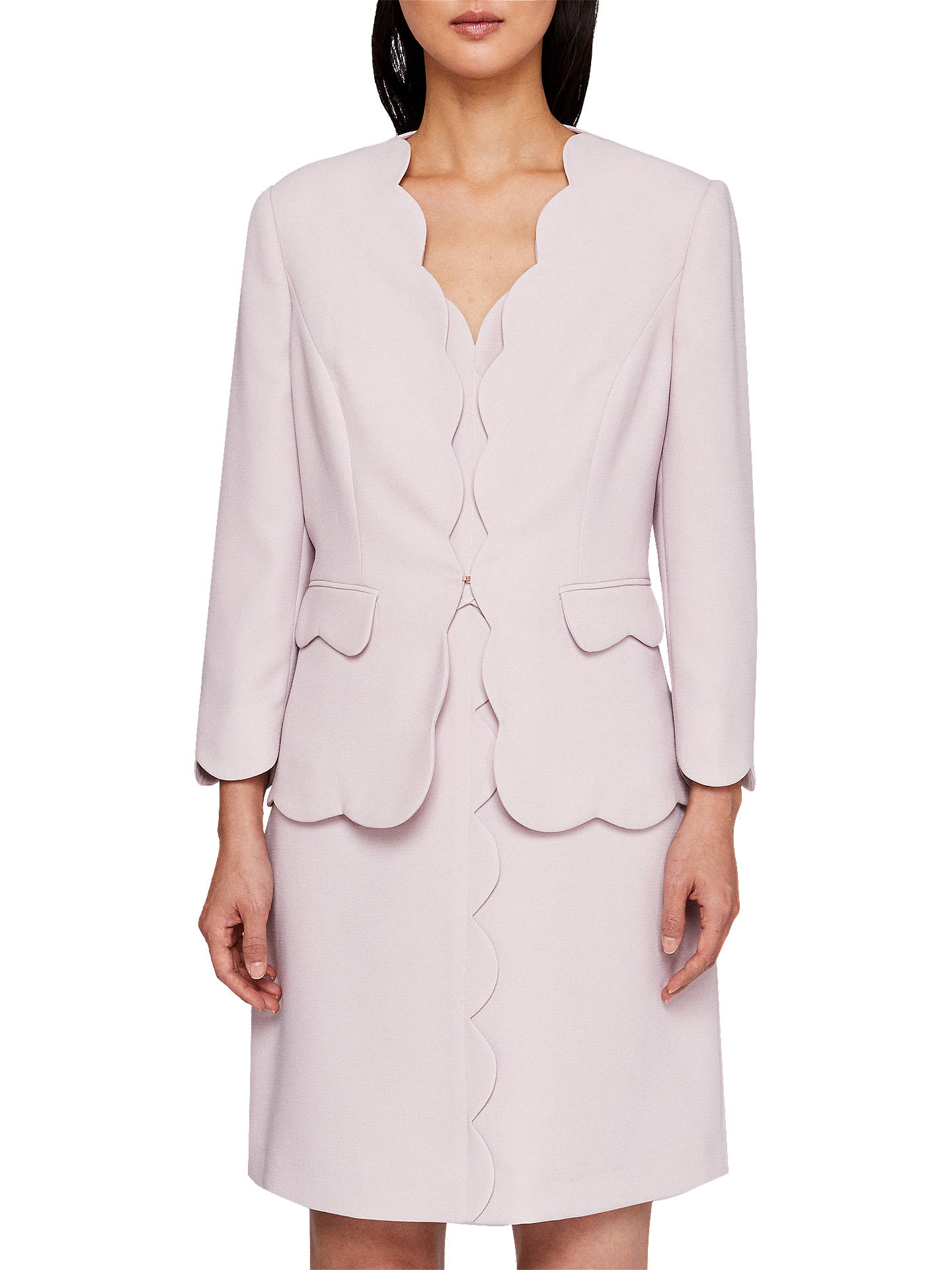 38e01c350c0f1 Ted Baker Rubeye Scallop Edge Cropped Blazer Jacket at John Lewis ...