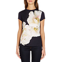Buy Ted Baker Tinko Gardenia Fitted T-Shirt, Dark Blue Online at johnlewis.com