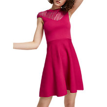 Buy French Connection Crepe Knit Dress, Magenta Haze Online at johnlewis.com