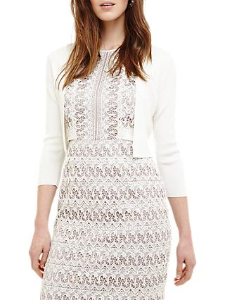 Phase Eight Salma Knit Jacket, Ivory Cream