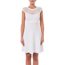 Buy French Connection Rose Crepe Fit And Flare Dress, Summer White Online at johnlewis.com