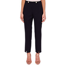 Buy Ted Baker Cerisat Split Hem Suit Trousers, Navy Online at johnlewis.com