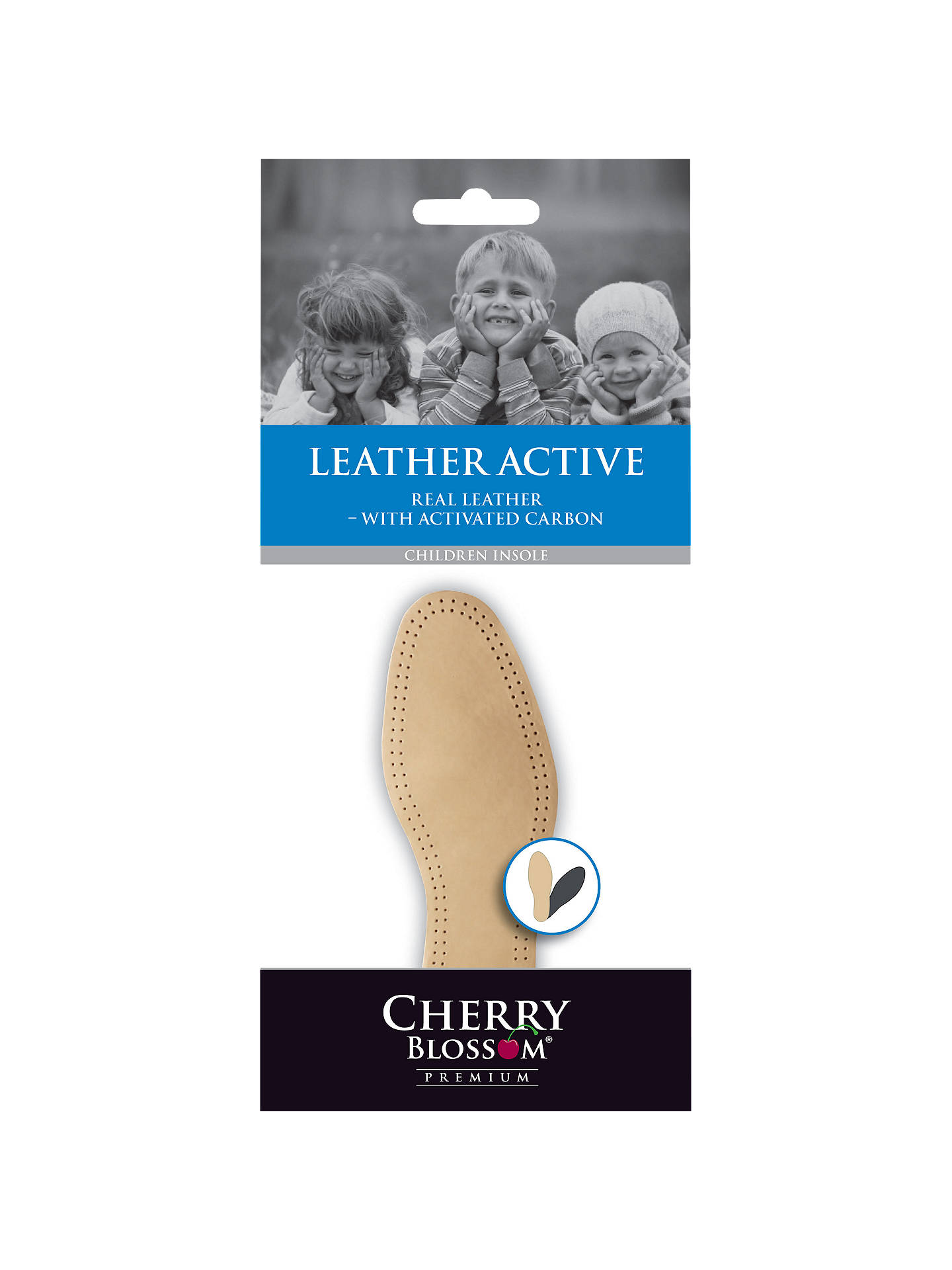 BuyCherry Blossom Leather Active Insoles, Natural, 3 Online at johnlewis.com