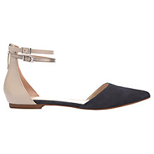 Buy Mint Velvet Kiera Ankle Strap Pumps, Dark Blue Online at johnlewis.com