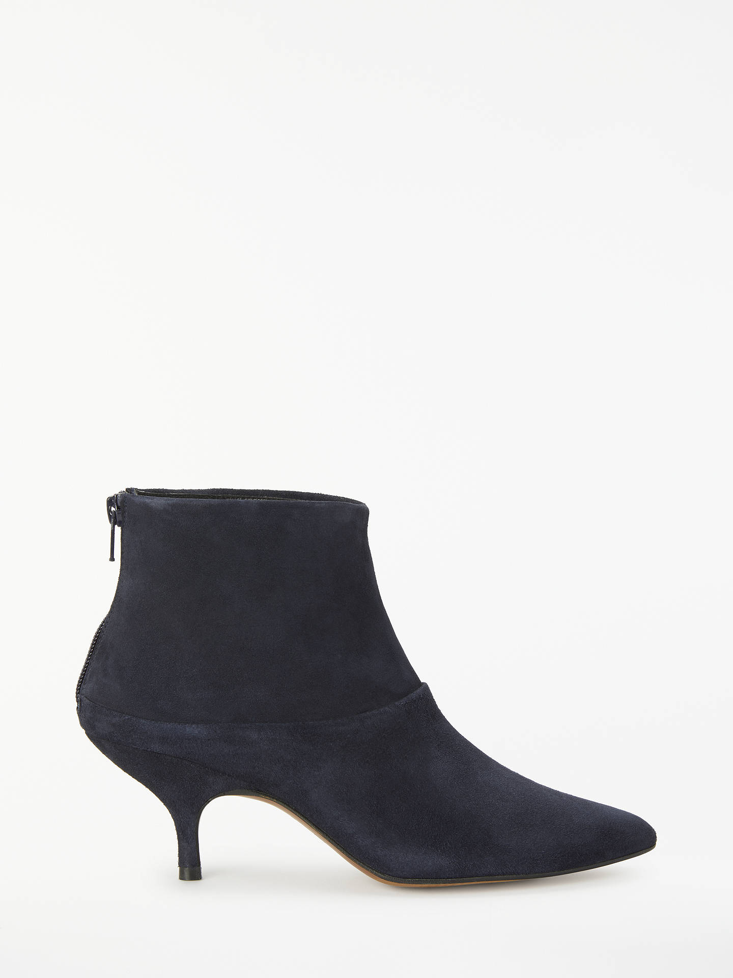 1c0e850708c Finery Erica Kitten Heel Ankle Boots, Navy Suede at John Lewis ...