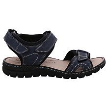 Buy Josef Seibel Stefanie 01 Rip Tape Flat Sandals, Jeans Blue Nubuck Online at johnlewis.com