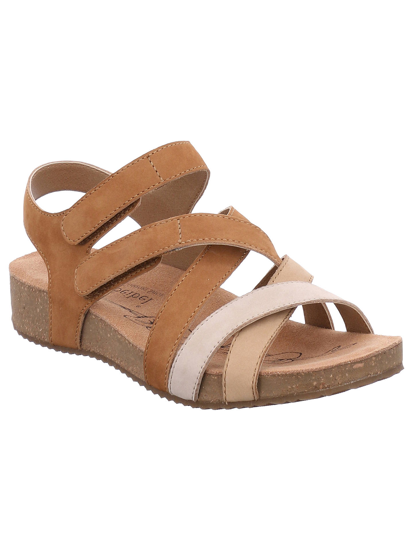 Josef Seibel Tonga 37 Sandals, Natural Leather at John Lewis