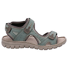 Buy Josef Seibel Stefanie 23 Rip Tape Flat Sandals, Mint Nubuck Online at johnlewis.com