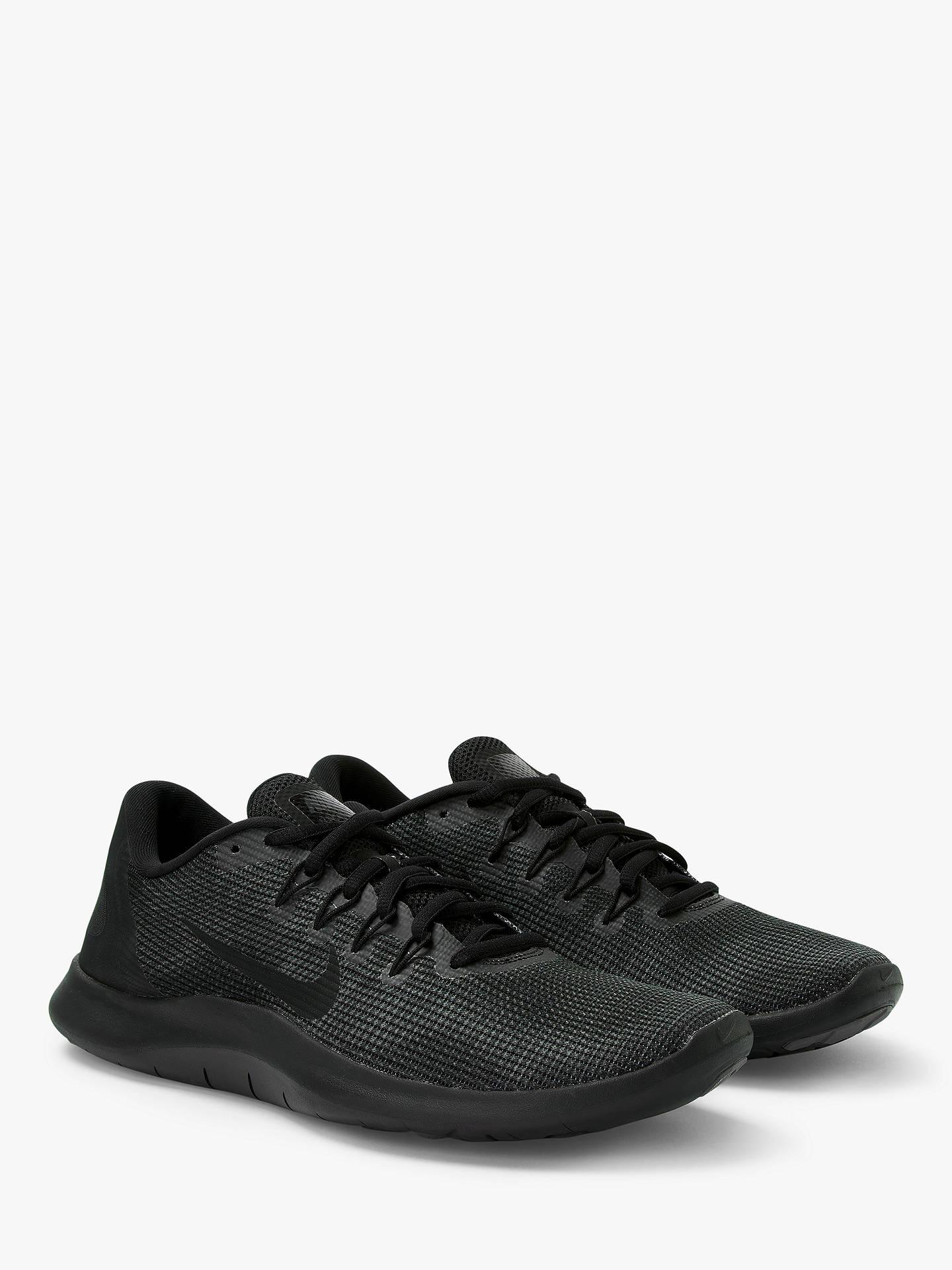best loved 6bd16 2c72d Nike Flex RN 2018 Men's Running Shoes, Black/Grey at John ...
